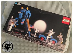 Vintage Moon Landing 1 - Box (captainmutant) Tags: afol classic space homemaker lego legospace legography photography minifig minifigs minifigure minifigures moc sciencefiction science fiction scifi exploration brickography toy