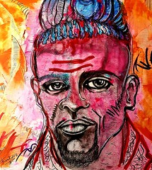 Kino (franck.sastre) Tags: art colors olladas face lips man eyes painting picture streetart