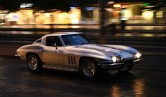 Stingray (Kim Drotz) Tags: 1965 corvette stingray chevrolet classic car american street cruising helsinki night