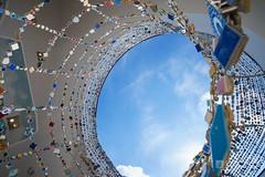 Exhibition space of Mosaic Tile Museum, Tajimi (多治見市モザイクタイルミュージアム) (christinayan01 (busy)) Tags: gifu japan architecture building museum perspective fujimori sky bird