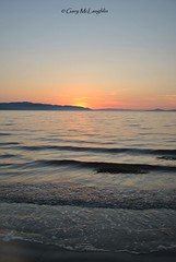 Donegal Sunset (Gary Rock Photo) Tags: sunset seawatersunsetloughskyhills inishowensunset donegal ireland wildatlanticway
