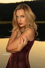 Kailey (austinspace) Tags: woman portrait spokane washington model blond blonde sunset dusk magichour dress dock