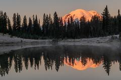 Mount Rainier Reflections (jeff's pixels) Tags: nature pond scenic mountrainier mountrainiernationalpark nationalpark reflection mountain lake water sunrise mist washington pnw outdoor hiking explore landscape