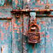 Lock on a weathered door in Bhaktapur, Nepal