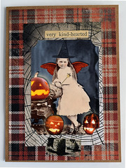 Halloween Collage Card #3 (janettefuller) Tags: handmade handmadegreetingcard handmadecard card halloween halloweencard fairy jackolantern alteredart lisasalteredart collagesheet plaid timholtz timholtzclippings papercrafts art crafts cardmaking collagegreetingcard