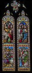 Melton Mowbray, St Mary's church, chancel window (Jules & Jenny) Tags: meltonmowbray stmaryschurch stainedglasswindow