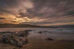 Playa de Verdicio. (Amparo Hervella) Tags: playadeverdicio asturias españa spain paisaje mar agua roca puestadesol atardecer nube naturaleza largaexposición d7000 nikon nikond7000