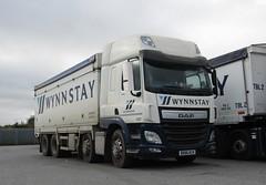 Wynnstay DX66 KCV at the yard (Joshhowells27) Tags: lorry daf cf dafcf wynnstay dx66kcv bulkblower animalfeed