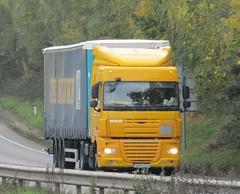 De Rijke VS 15 TLR (Romania) on the A5 at Shrewsbury (Joshhowells27) Tags: lorry derijke romania romanian foreign foreigner curtainsider vs15tlr daf xf dafxf