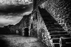 The Arena (Snapshots of Space and Time) Tags: blackandwhite alentejo portugal monsaraz çastle historic historical arena