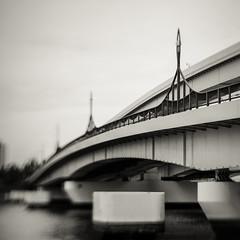 DSCF6084 (Masahiko Kuroki (a.k.a miyabean)) Tags: bw monochrome noiretblanc bridge architecture xt2 lensbaby sol45