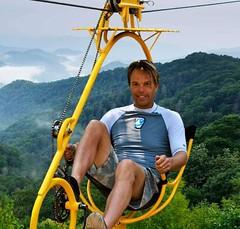 EcoFlyer Treetop Cable Bicycle http://bit.ly/2tAFuen (Skywalker Adventure Builders) Tags: high ropes course zipline zipwire construction design klimpark klimbos hochseilgarten waldseilpark skywalker