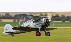 Gloster Gladiator (SouthamptonPete) Tags: 1 l8032 aircraft gladiator gloster k7985 biplane airshow fighter gamrk duxford