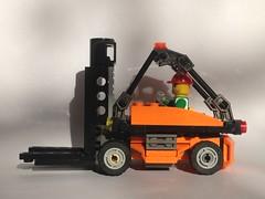 Forklift MOC (craigslegostuff) Tags: lego car vehicle truck lorry crane bike bicycle motorbike forklift van pickup road motor motorway work utility mini fig figure minifigs figures cmf creator modular moc mod