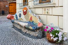 A splendid bench (Lense23 (mostly off for a while)) Tags: bench tangermünde sachsenanhalt kunst artwork deutschland germany