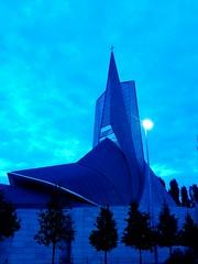 Crkva blazenog Augustina Kazotica, Zagreb (Bambola 2012) Tags: church chiesa crkva zagreb zagabria croatia croazia hrvatska blue blu plavo evening sera vecer