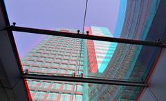 ABN Zuidas Amsterdam 3D (wim hoppenbrouwers) Tags: abn zuidas amsterdam 3d anaglyph stereo redcyan