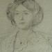 DEGAS Edgar,1860 - Madame Hertel assise sur un Canapé (Louvre RF29294) - Detail 12
