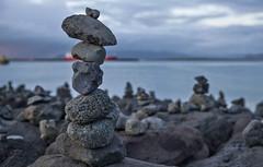 Balanced (OzzRod (catching up)) Tags: pentax k1 hdpentaxdfa2470mmf28 rocks basalt pillars balance waterfront reykjavik iceland