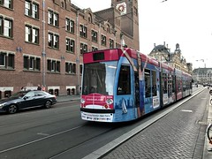 Tram - Downtown Amsterdam - October 2018 (firehouse.ie) Tags: holland amsterdam city publictransport transportation transit transport trams tram