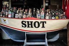 Shot boat (Melissa Maples) Tags: kemer turkey türkiye asia 土耳其 apple iphone iphonex cameraphone autumn shot text sign drink food spirits alcohol bottles bar turkishflag flag