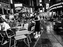 The Look (C@mera M@n) Tags: blackandwhite city manhattan ny nyc newyork newyorkcity newyorkcityphotography newyorkphotography people places street streetphotography timessquare urban outdoors peoplewatching