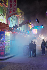 Fog colors (cicoub13) Tags: ifttt 500px crowd street city pedestrian neon light large group people night town square stock