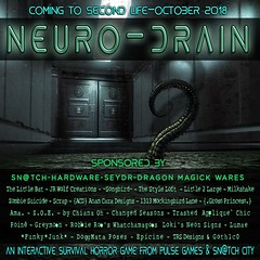 NEURO-DRAIN SPONSOR POSTER UPDATED (Tess-Ivey Deschanel) Tags: pulse pulsegames halloween horror scary costumes survivalhorror game