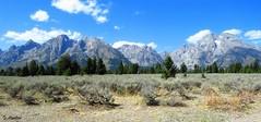 Teton Mountain Range (Suzanham) Tags: mountainsscape nationalpark jacksonhole grandteton landscape wyoming mountains
