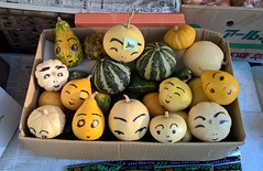 Japan Fun Food (Jamo Spingal : Thanks for 1M Views) Tags: nokialumia japan kyoto legumes vegetables forsale cartoon face faces colours