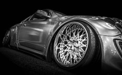 HOT (Dave GRR) Tags: hyundai genesis sportscar toronto auto show 2018 monochrome olympus bw mono rims black background
