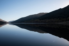 Loch Voil vapour trails (gallowaydavid) Tags: lochvoil balquidderglen reflections vapour trails