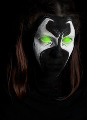 Day 4292 (evaxebra) Tags: halloween facepaint face paint 33daysofhalloween 33days evaxebra spawn hellspawn