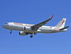 F-WWBN Airbus A320 Tunisair (@Eurospot) Tags: tsimw fwwbn 6338 airbus a320 tunisair lfbo toulouse blagnac