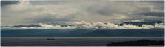 Olympics Pano (westcoastcaptures) Tags: ocean panoramic mountains clouds storm rain pacific royalbay colwoodbc juandefuca olympicmountains