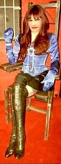 Fashionista - 18 (donnacd) Tags: sissy tgirl tgurl dressing crossdress crossdresser cd travesti transgenre xdresser crossdressing feminization tranny tv ts feminized jumpsuit domina blouse satin lingerie touchy feely he she look 易装癖 シー