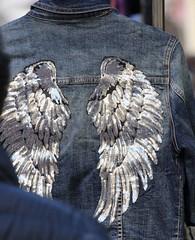 Angel in Denim (jmaxtours) Tags: elrastrodemadrid elrastro madrid madridspain spain espana fleamarket market streetmarket sunday sundaymarket angelindenim angel angelswings denim