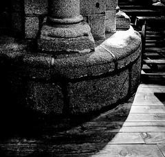 FaithBase.jpg (Klaus Ressmann) Tags: klaus ressmann omd em1 autumn cathedral church eavila blackandwhite flicvarious pillar prayer klausressmann omdem1