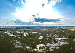 Domes and Rays (Fifinator) Tags: dji spark everglades florida aerial drone miami sawgrass plain swamp crepuscular rays dome cypress light