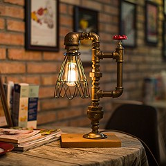 Vintage Kettle Style Pipe Desk Lamp (mywowstuff) Tags: gifts gift ideas gadgets geeky products men women family home office