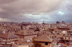 Stormy sky above Genova 3 (lumpy79) Tags: yashica tl electro x auto yashinondx 117 f50mm expired kodak gold 200 genova italy