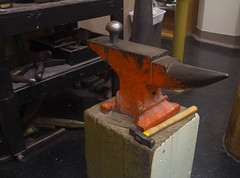 wcowley_Porter_equipment_3 (wctres) Tags: pittsburg state university gorillas kansas art department equipment anvil hammer metal 3d artwork smithing college studio