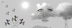 In the Clouds (bert • bakker) Tags: cloud wolk jeffkoons imitation immitatie face gezicht art custommade readymade kunst indewolken intheclouds dogs honden ballonnen balloons berg mountain zon sun