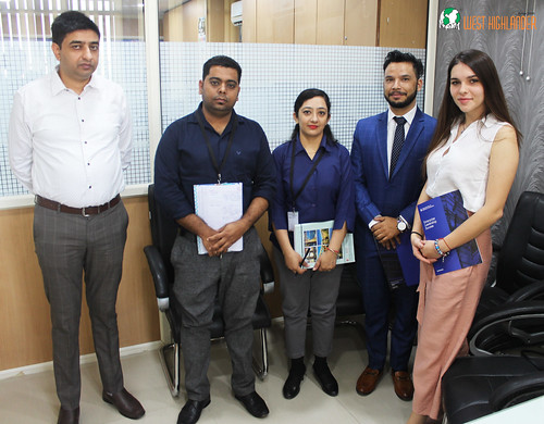 Lolita Mamedova, Business Development Manager of Berlin School of Business and Innovation (BSBI), Germany and Mr. Jatinder visit West Highlander.