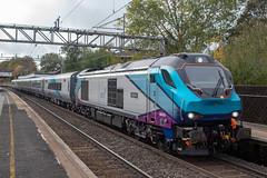 Transpennine Express 68025 (Mike McNiven) Tags: transpennine express mk5a nova3 caf bletchley manchester internationaldepot wilmslow cheshire directrailservices drs freightliner loco locomotive diesel