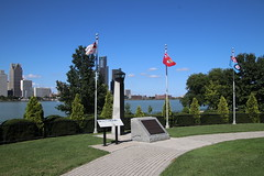 Windsor Riverfront and Detroit Skyline from Windsor, Ontario - September 11, 2018 (cseeman) Tags: downtown detroit michigan buildings cities skyscrapers skyline city urban business downtowndetroit detroit09112018 river detroitriver water detroitskyline windsor ontario canada windsorontario windsorcanada monuments memorials warmemorials canadianwarmemorials parks windsorriverfront riverfront dieppepark dieppeparkwindsor