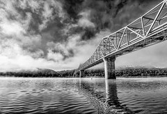 Ohio River Bridge (Bernie Kasper (4 million views)) Tags: art architecture bridge bw berniekasper creek d600 effect family getty hiking historic history indiana jeffersoncounty light landscape love madisonindiana madisonindianacliftyfallsstatepark nature nikon naturephotography new outdoors outdoor old outside ohioriver ohioriverbridge photography park photos raw summer travel unitedstates usa