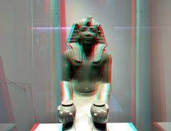 Ramses IV with Wine RMO 3D (wim hoppenbrouwers) Tags: ramses iv with wine rmo 3d ramsesiv withwine rmo3d anaglyph stereo redcyan ancient egyptian gods 1156bc london britishmuseum