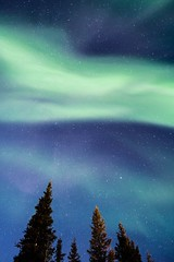 Psychedelic sky. (Kristaaaaa) Tags: 16mm aurora auroraborealis borealis canada fortgoodhope fujifilm green longexposure night north northern northernlights northwestterritories nwt sahtu sky skyscape stars wideangle
