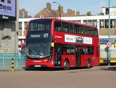 SLN 13076 - BJ15TWA - NSF - PECKHAM BUS STATION - THUR 6TH SEPT 2018 (Bexleybus) Tags: adl dennis enviro 400 peckham bus station south east london mmc volvo stagecoach 13076 bj15twa hybrid tfl route 177